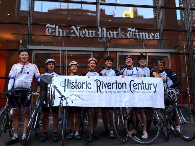 HRC riders in NYC this morning
