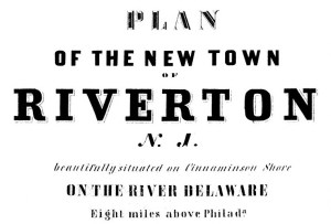 plan of new town of riverton title