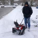 Snowblowing in Delran 1-27-2015