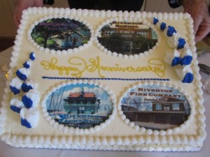 A cake for four anniversaries