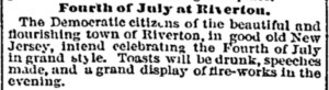 Fourth of July at Riverton, July 3, 1865 Philadelphia Inquirer p.2