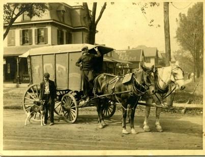 L.A. Weikman horse-drawn ice wagon