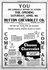 Hutton Chevrolet, New Era, April 7, 1949, p9