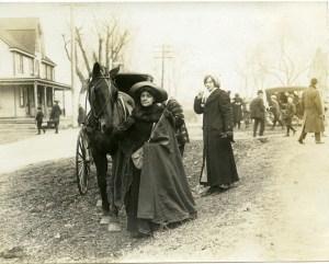 Gen. Rosalie Jones and gospel wagon Miss Alice Freeman in background, Steel Family Album