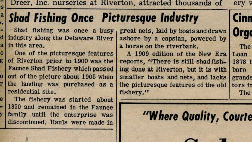 Faunce shad fishery, The New Era 1965 Anniv. Issue p22