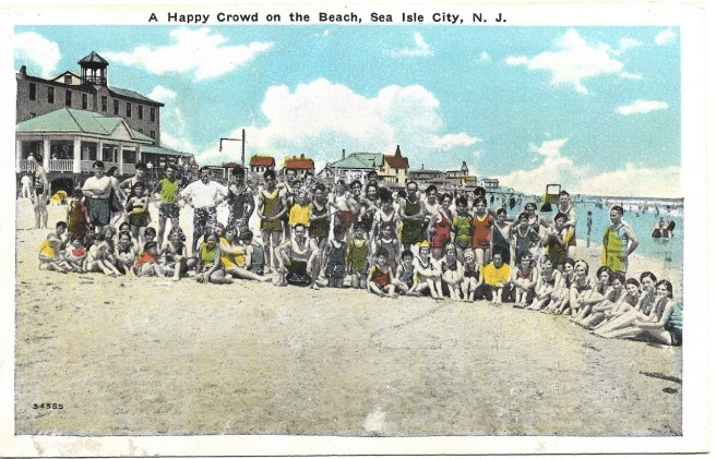 A happy crowd on the beach, Sea Isle City, NJ
