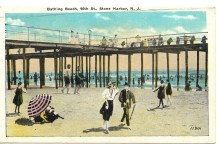Bathing beach, 96th St., Stone Harbor, NJ