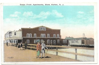 Ocean front apartments, Stone Harbor, NJ