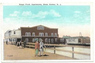 Ocean front apartments, Stone Harbor, NJ