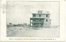 : Shown are some recently erected cottages at New Stone Harbor