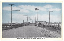 boulevard approach entering Stone Harbor