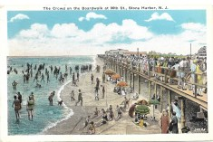 The Crowd on the Boardwalk at 96th St.