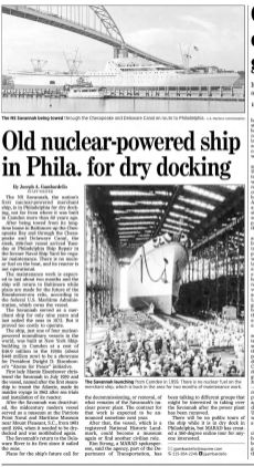 NS Savannah, Philadelphia Inquirer, Sep 12, 2019, pB2