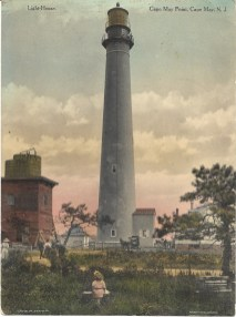 Light House, Cape May Point, Cape May, N.J., hand-colored, prior to 1920