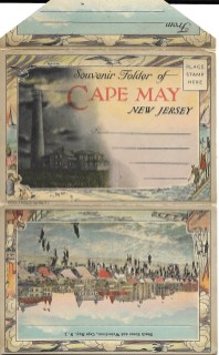 Cape May Souvenir Postcard Folder