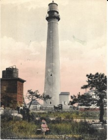 Lighthouse, Cape May Point, hand-colored