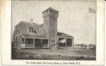 The United States Life Saving Station at Stone Harbor, N.J., postally unused