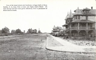 Broad streets and handsome cottages built at Stone Harbor