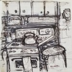 Kitchen Sketch by Tom Casaletto