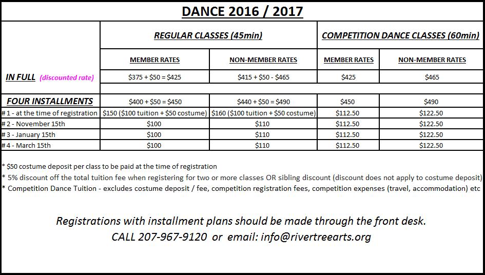 dance schedule best