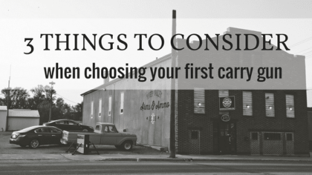 3 things to consider when carrying