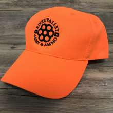 Blaze Orange Hat With Black Logo