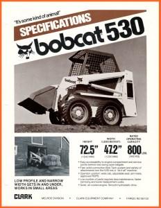 Bobcat 530 (1980) Skid-Steer Specifications @ RVM, LLC   River Valley Machine