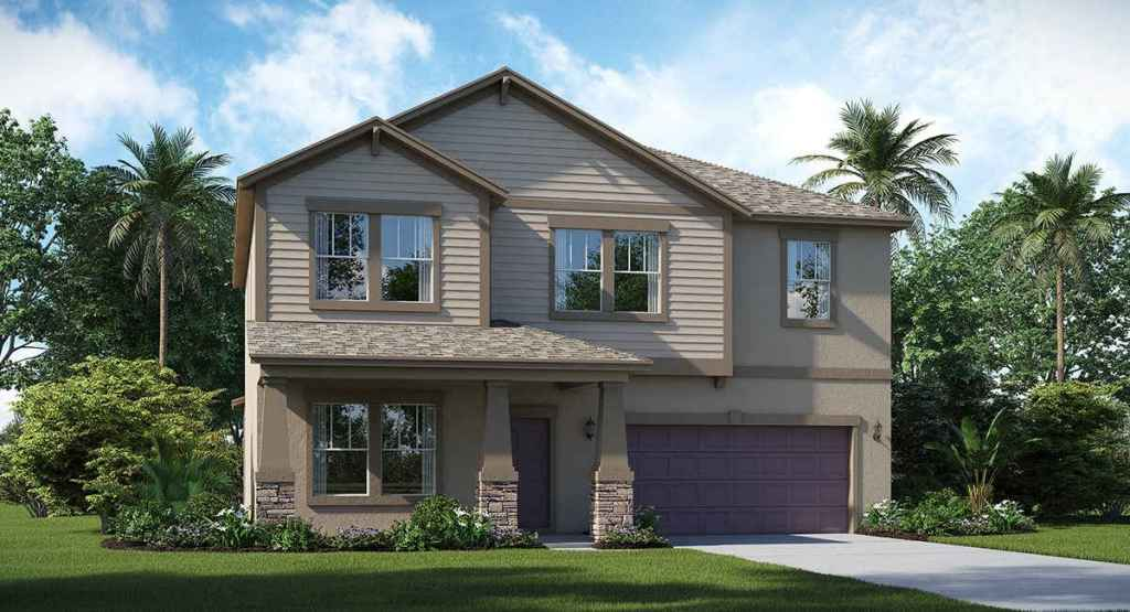 Beautiful Home with Hurricane Shutters Riverview Florida New Homes Communities