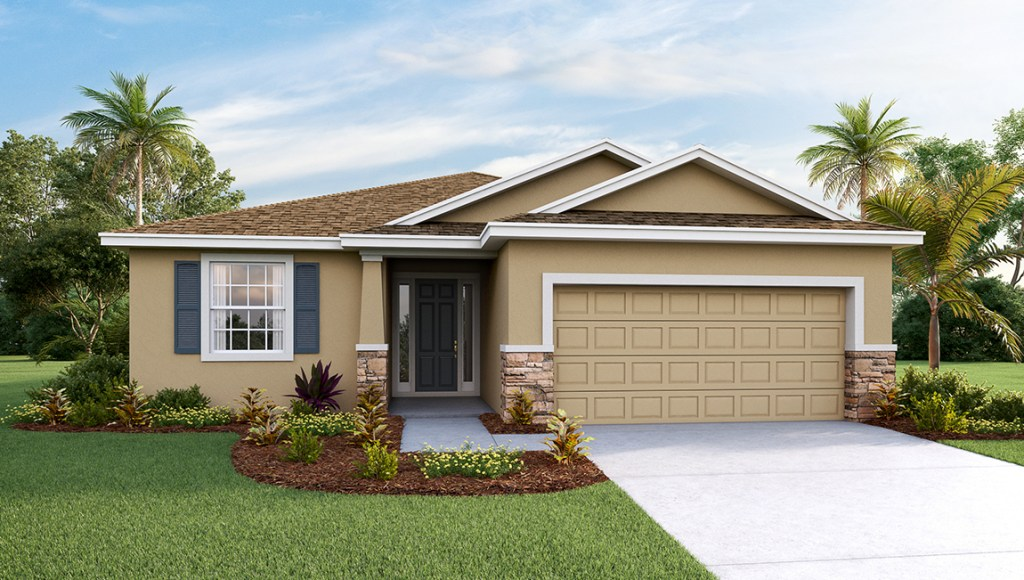 SouthShore Bay The Laurel 1,844 square feet 3 bed, 2 bath, 2 car, 1 story Wiamuama Florida