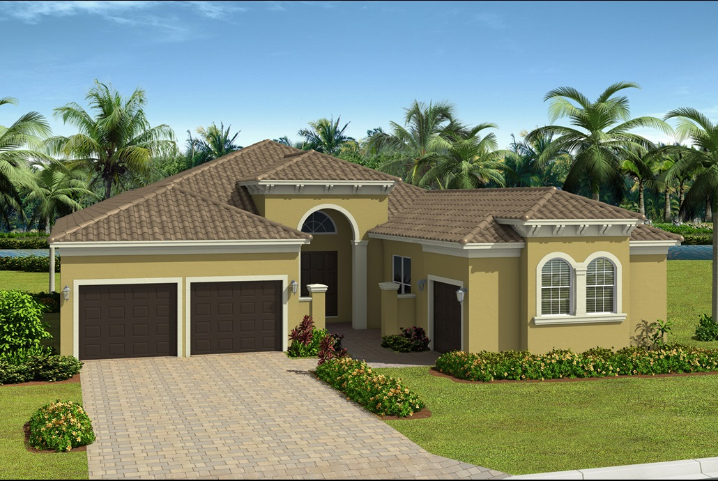 Valencia del Sol CARLYLE  3 Bedrooms 3 Bathrooms 1 Half Bath Great Room Club Room/Optional 4th Bedroom Screened and Covered Patio 3-Car Garage