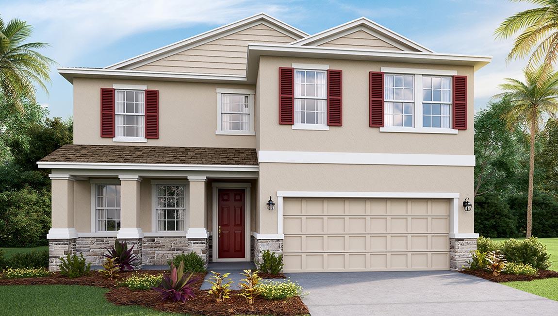 DR Horton Homes | The Coral 2,756 square feet 4 bed, 3 bath, 2 car, 2 story | Brooker Ridge Brandon Florida Real Estate | Brandon Realtor