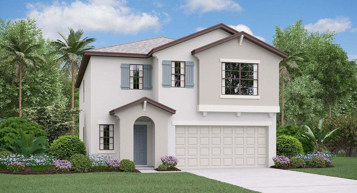 The  Concord Model Tour Lynwood  Lennar Homes  Apollo Beach Florida