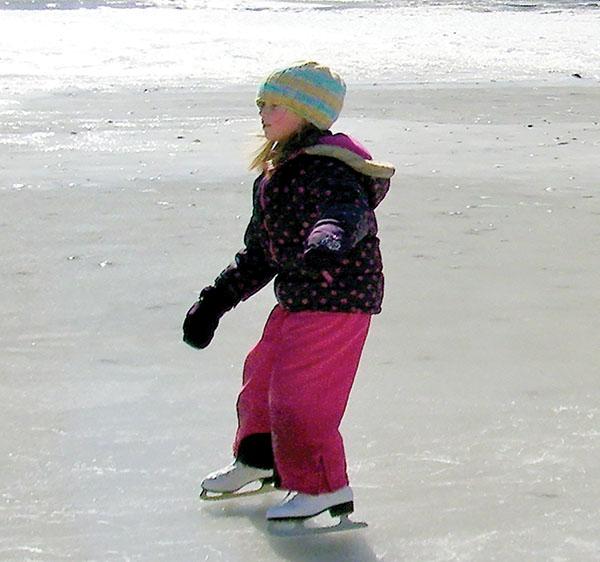 ice skating river