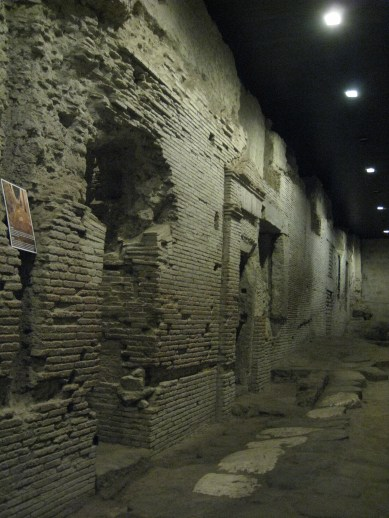 Ancient remains of shopping street