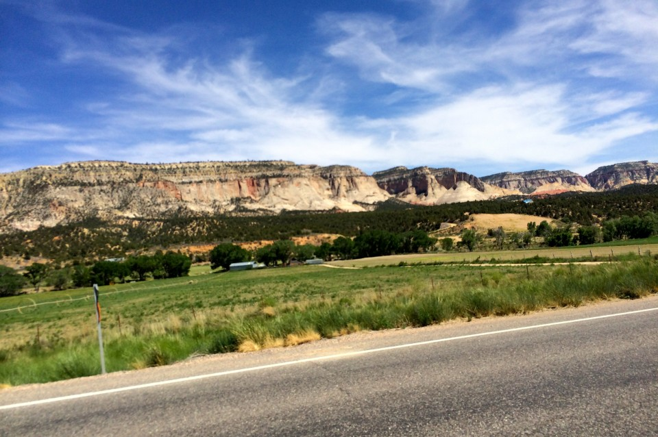 The White Cliffs. Heading to Mt. Carmel Junction.