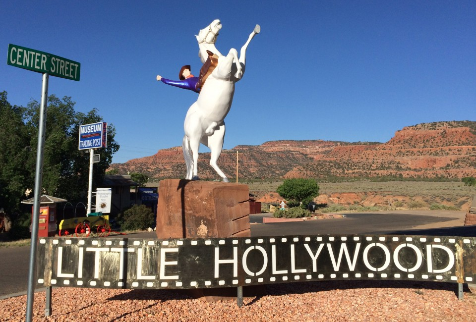 Kanab, Utah. Called Little Hollywood because many early Westerns were filmed here.