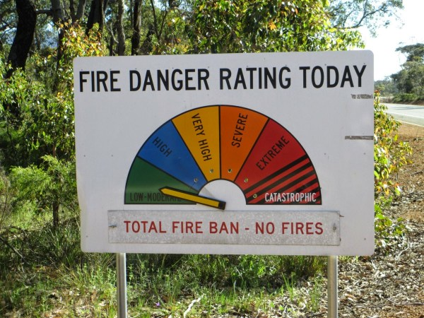 In the US, our fire signs only go to Extreme. Aussie's kick it up! photo: Banks