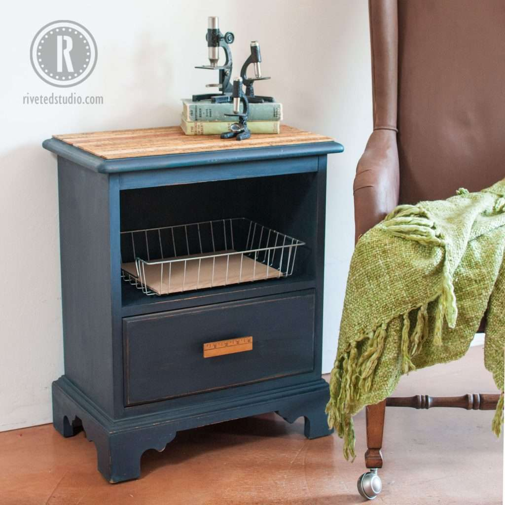 Yardsticks And Milk Paint Nightstand With Diy Pull Ofmp