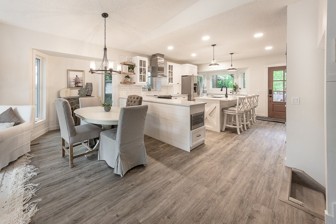 kitchen and dining area remodel