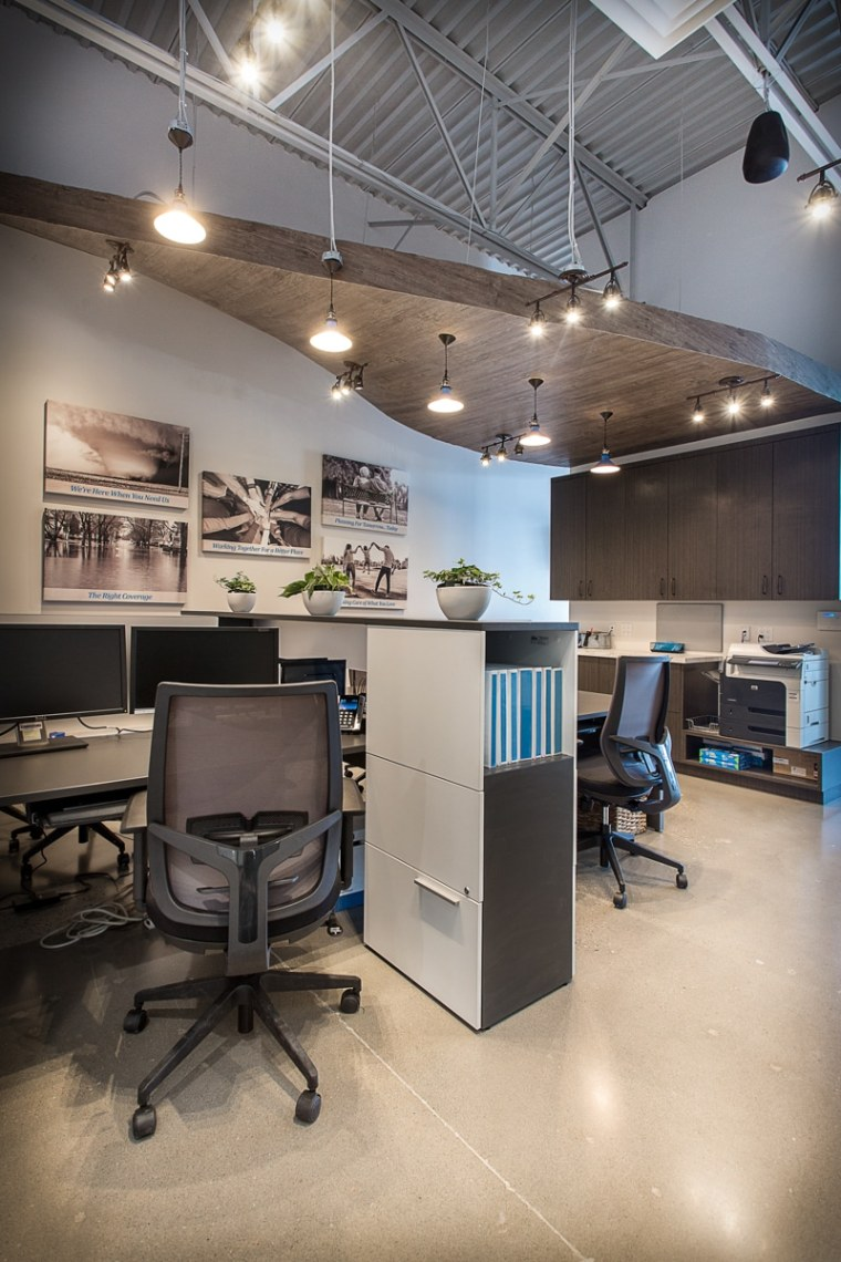 Cooperators Insurance Office open concept workspace Sherwood Park Edmonton