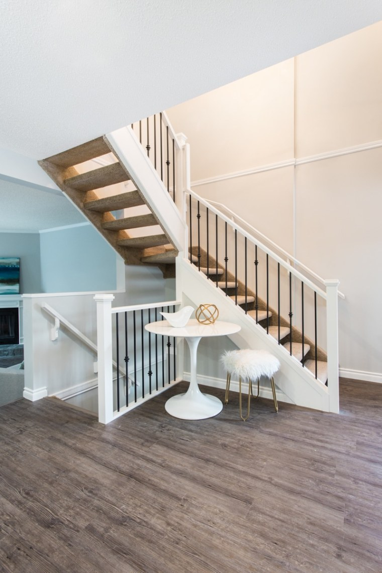 custom staircase renovation in sherwood park edmonton