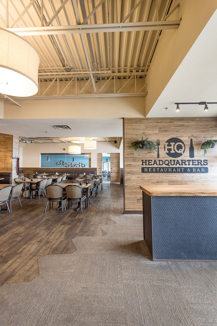 headquarters restaurant and bar reception entrance area in sherwood park