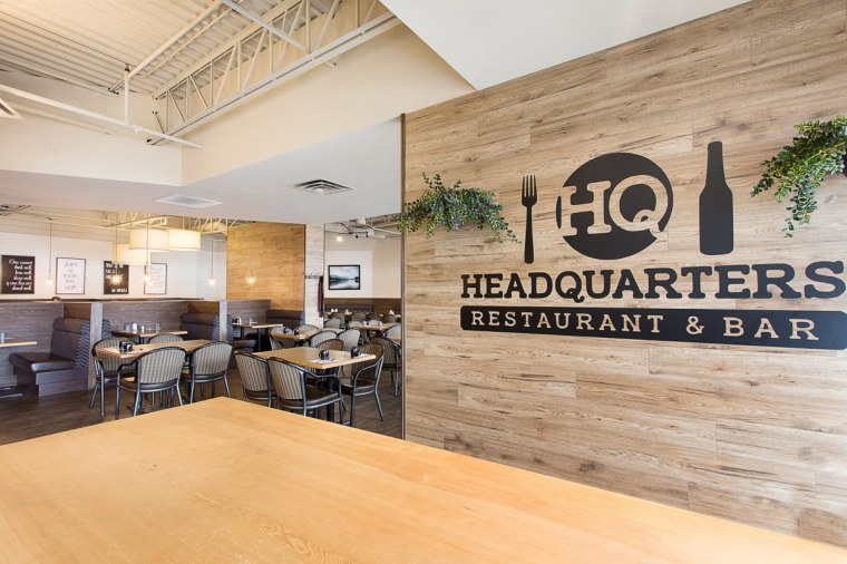 headquarters restaurant and bar reception area in sherwood park