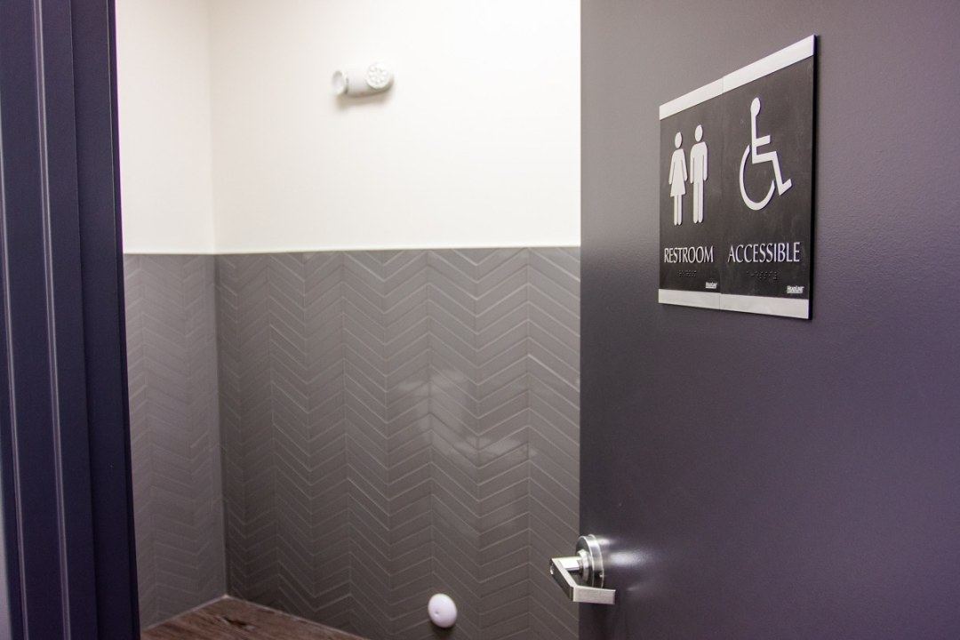 accessible washroom sign common ground