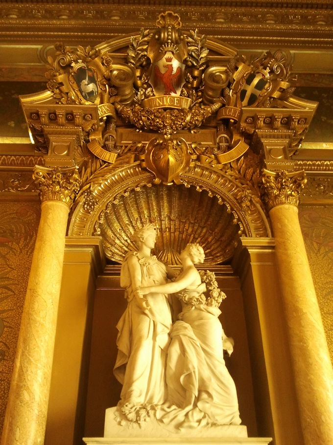 The Salon in Palais des Rois Sardes in Nice