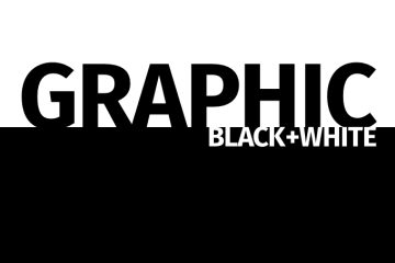 Graphic black and white