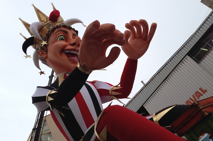 Closeup of the King of Nice Carnival 2013