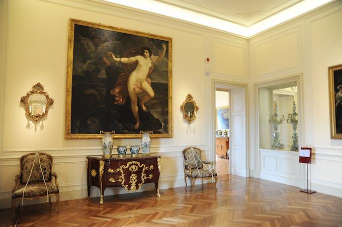 The interior of Villa Regina Margherita in Bordighera