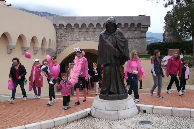The Pink Ribbon Walk 2013 in Monaco at the Place du Palais