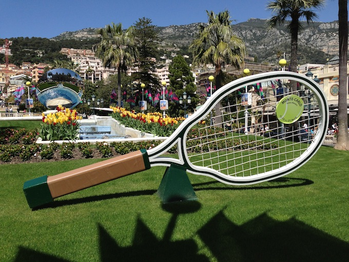 Tennis time at Place du Casino in Monte-Carlo